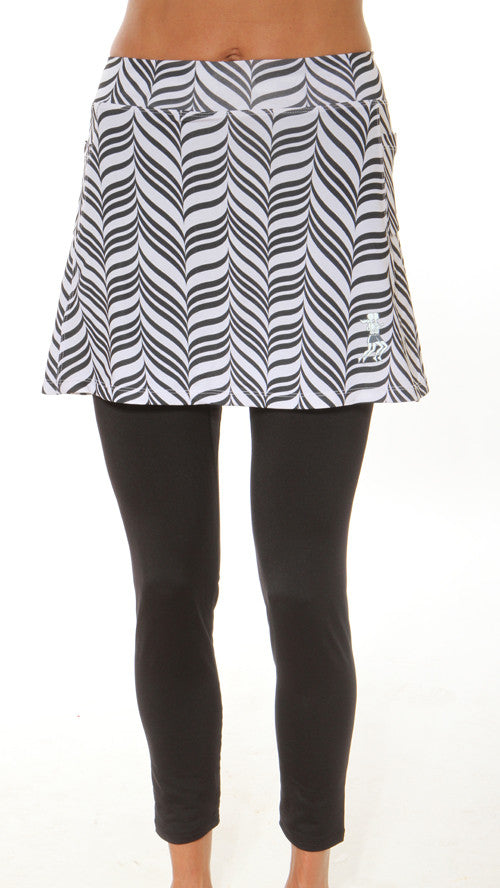 black candy stripe subzero skirt