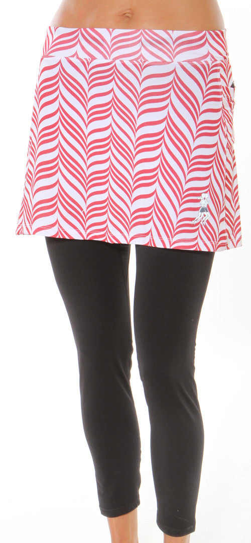 red candystripe subzero skirt