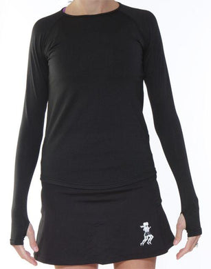 Black SubZero Performance Long Sleeve Top