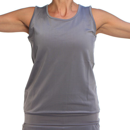 silver gray performance tank