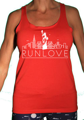 Red NYC Urban Run Love Sport Tank