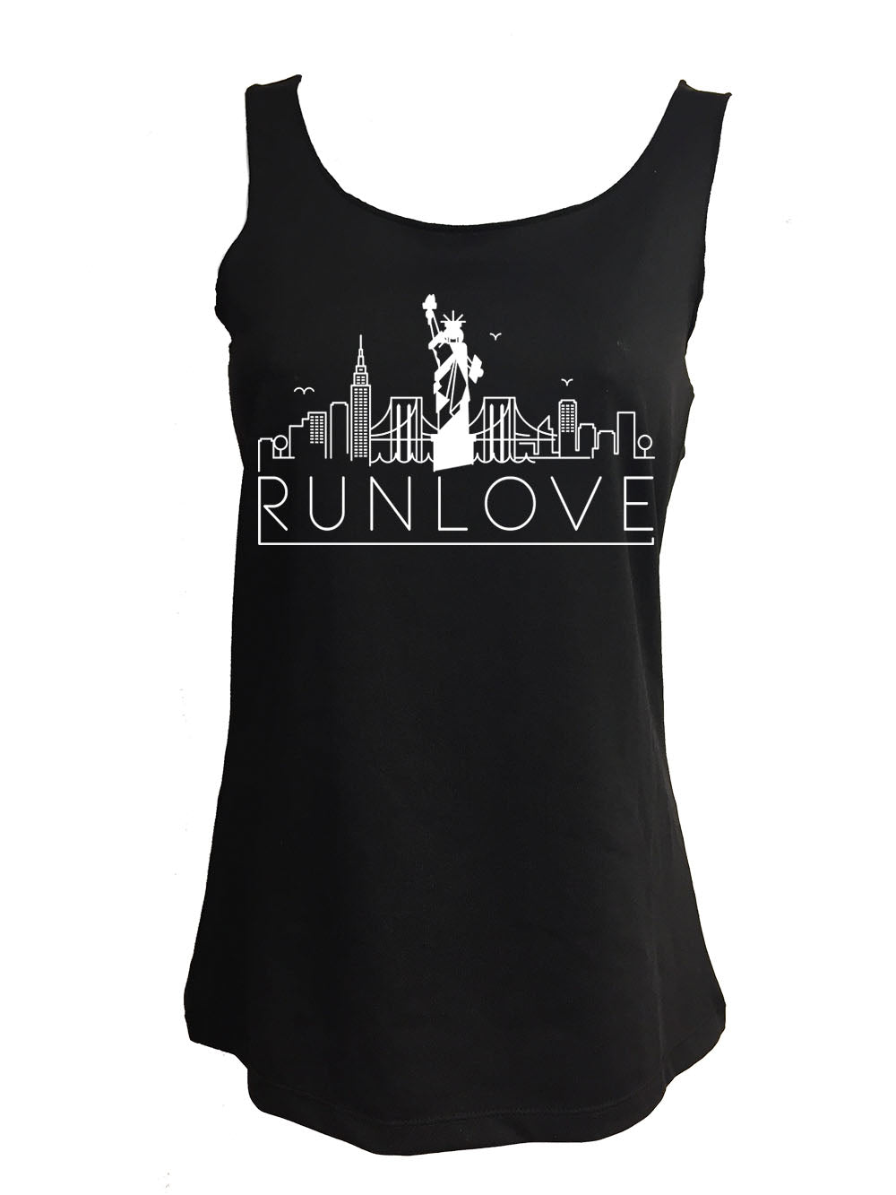 Black Urban NY Run Love Sport Tank