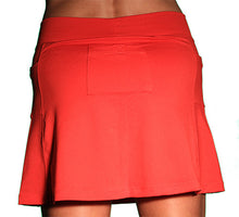 red ultra swift running skirt back