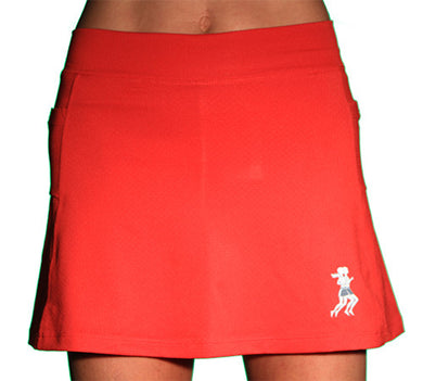 red ultra swift athletic skirt