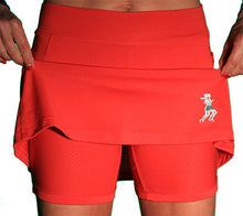red ultra swift athletic skirt compresion shorts