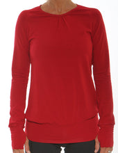 red performance long sleeve