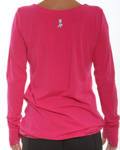 cerise v-neck back