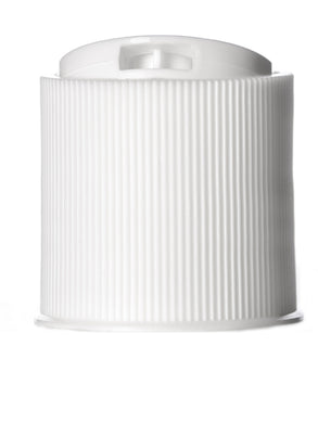 24/410 Cap White DIsc Cap ribbed