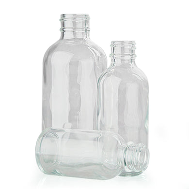 4oz Bottle Glass Clear