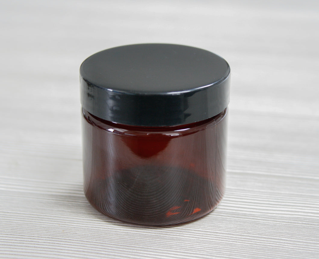 2oz Jar Amber PET with Black Lid Jar Set #12