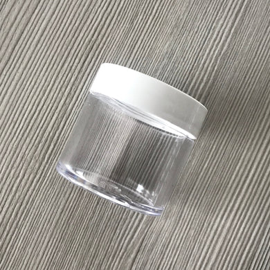 1oz Clear Jar PET with White Lid #11