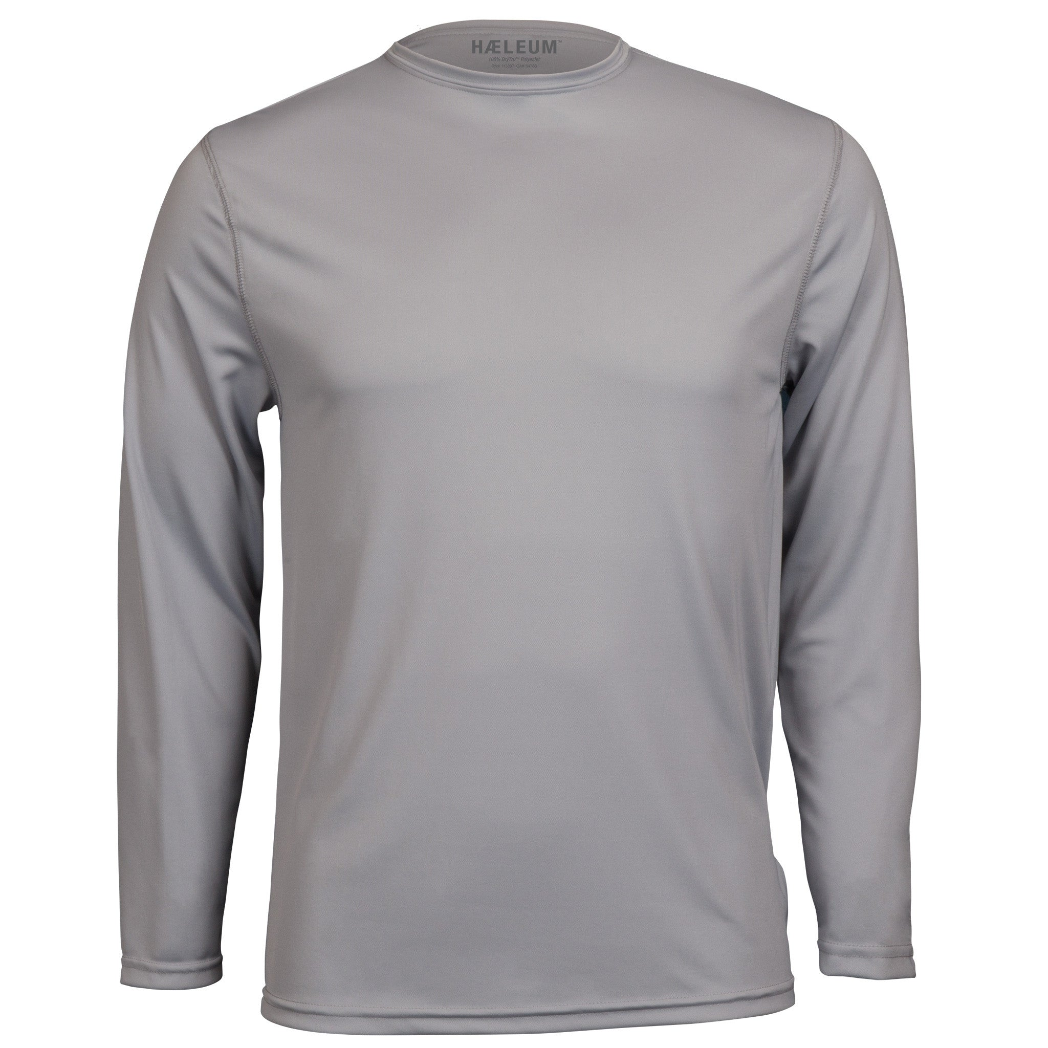 250cdf0e insect repellent shirt, moisture wicking, long sleeve, gray with large  vertical imprint on ...