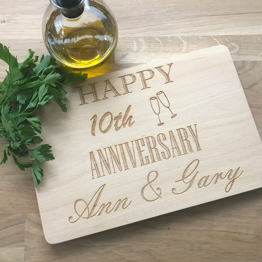 Engraved chopping board