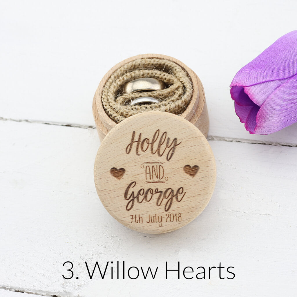 Personalised Wedding Ring Box - Ring Bearer Box - Proposal Ring Box - Engagement Ring Holder