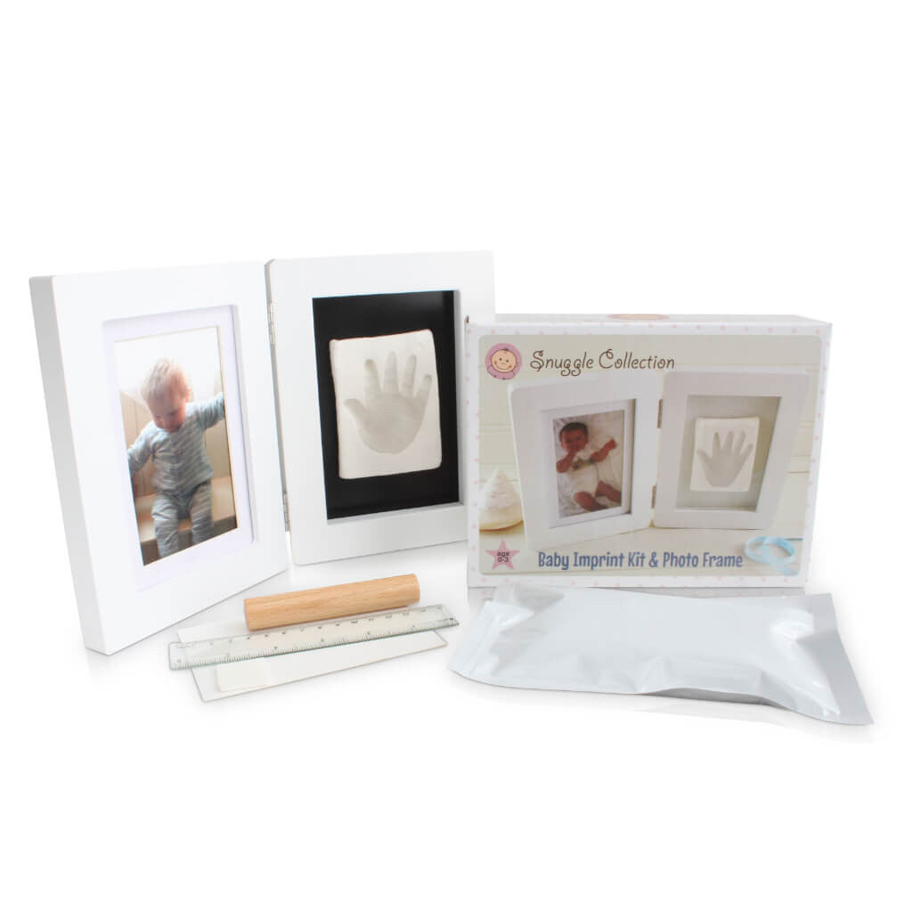 personalised baby imprint casting kit and photo frame baby gifts