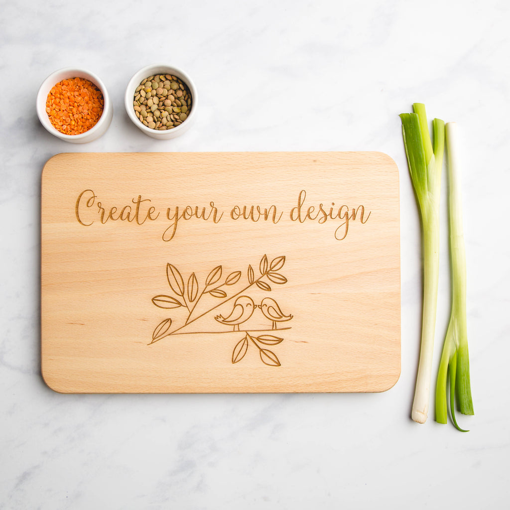 Create Your Own Design Personalised Engraved Wooden Chopping Board