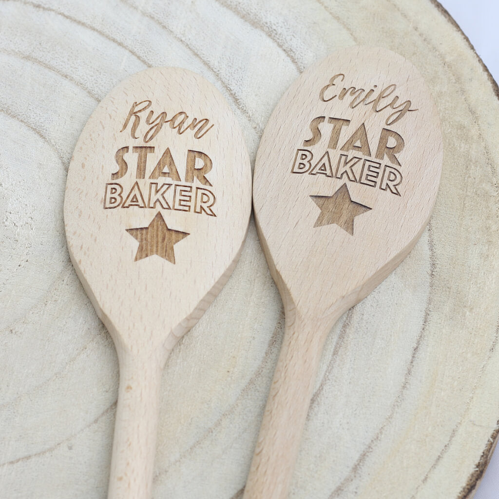 Star Baker Personalised Engraved Wooden Spoon