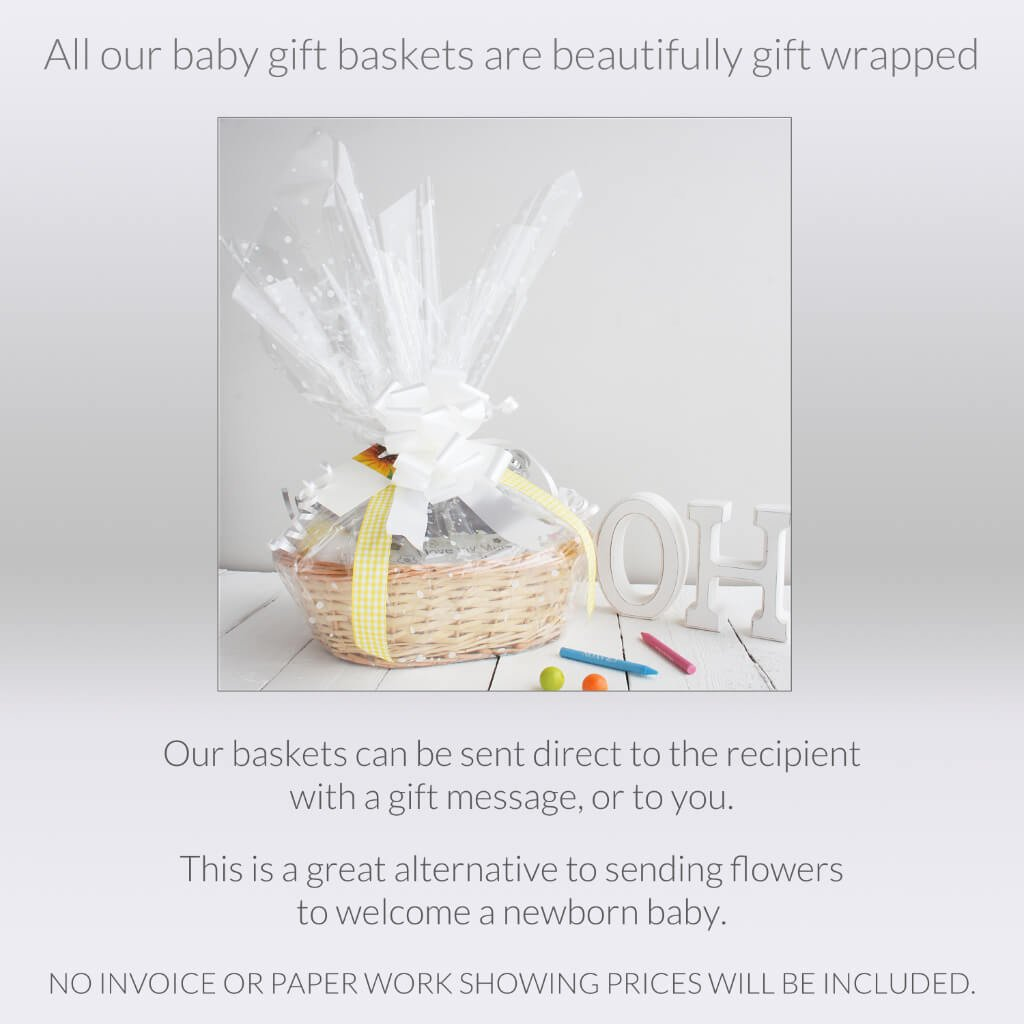 Gift Wrap Photo 1 | Girl's Beautiful New Baby Gift Basket | Hamper