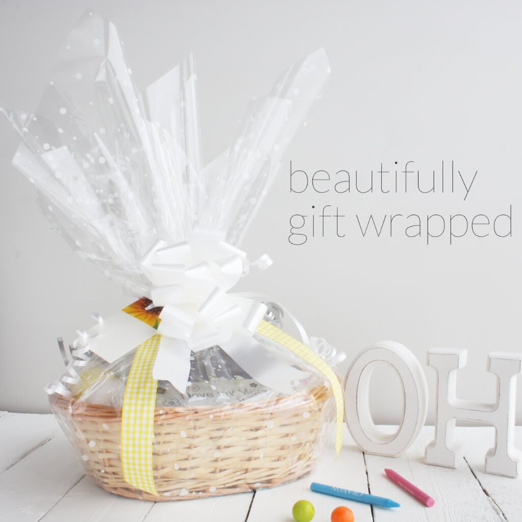 Gift Wrap Photo 2 | Girl's Beautiful New Baby Gift Basket | Hamper