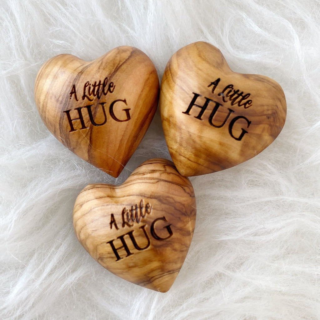 A Little Hug, Tiny Hug Token, Olive Wood, Isolation Gift, Missing You Gift, Thinking of You