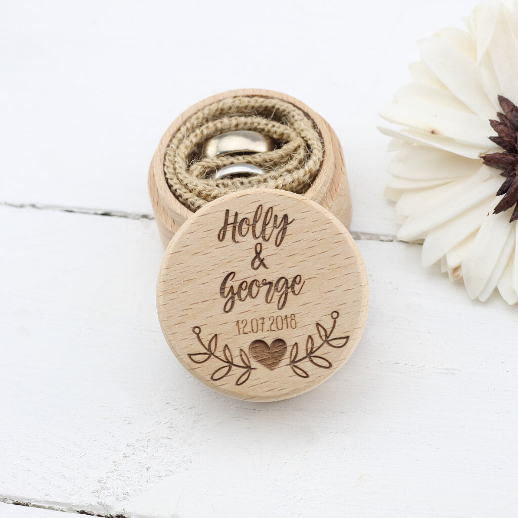 06f65872e6 ... Personalised Wedding Ring Box - Ring Bearer Box - Proposal Ring Box - Engagement  Ring Holder ...