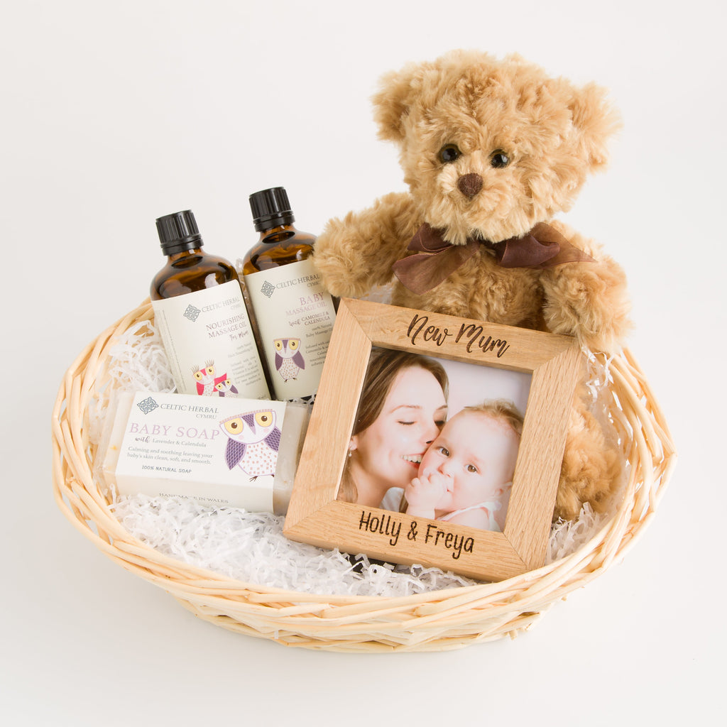 Personalised Pamper New Mum & Baby Gift Basket | Hamper