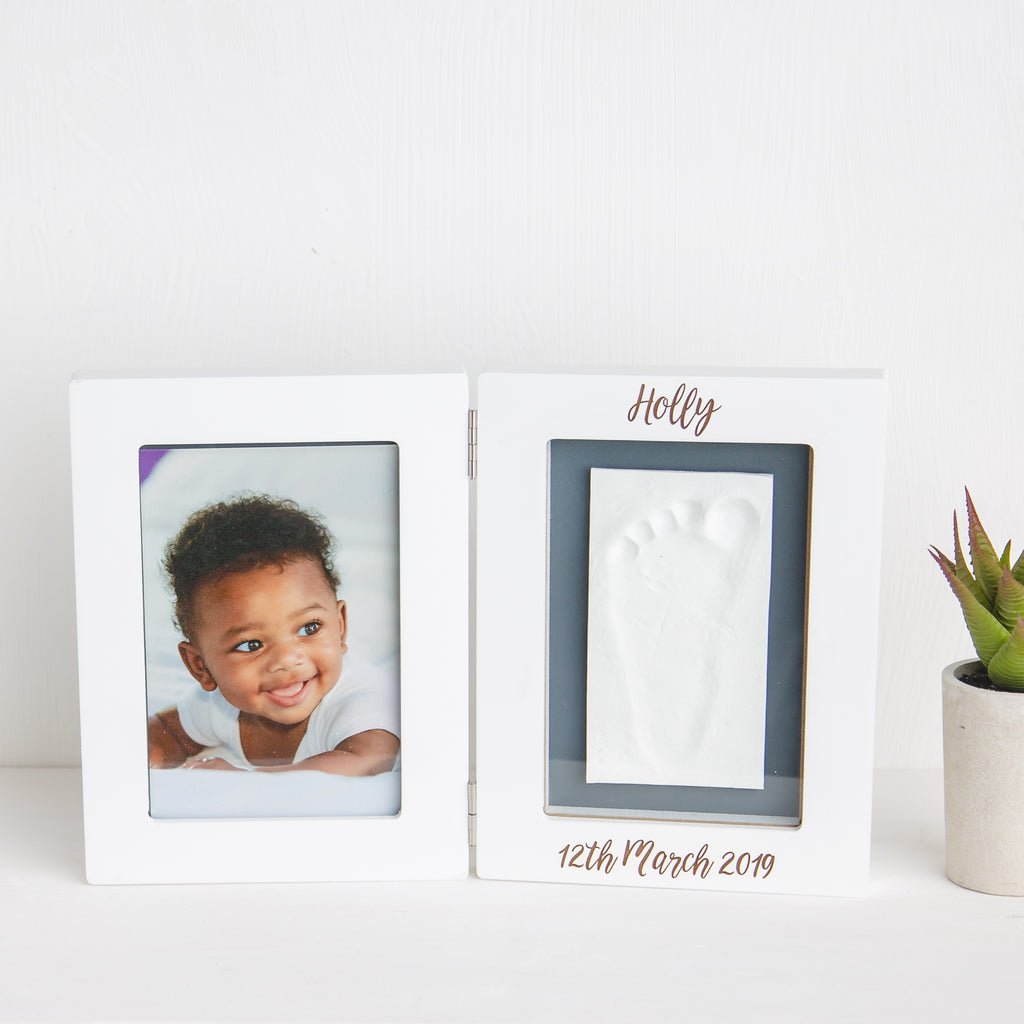Personalised Baby Imprint Casting Kit And Photo Frame
