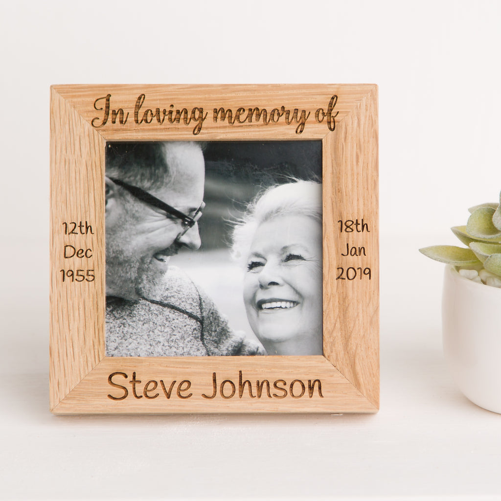 In Loving Memory Photo Frame, Solid Oak Wood, Bereavement gift, Loss Keepsake Gift, Memorial, Grieving