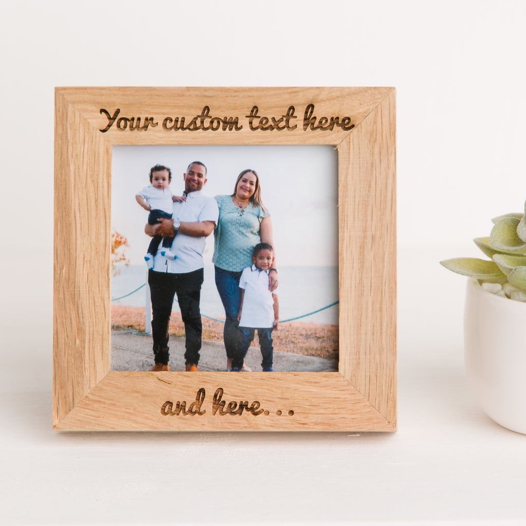 Custom Photo Frame, Solid Oak, Personalise To Any Occasion, Create your own Design, Milestone Birthday, Wedding Anniversary