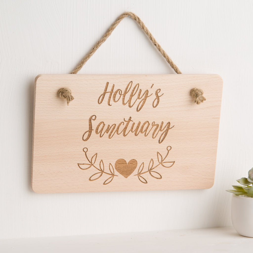 Create Your Own Design Personalised Engraved Wooden Hanging Plaque / Sign