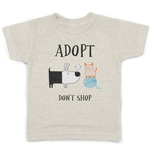Adopt Don't Shop Organic Recycled Toddlers Vegan Rescue Dogs Shirt