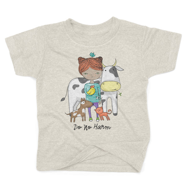 Do No Harm - Organic, Recycled Toddler Shirt in Natural
