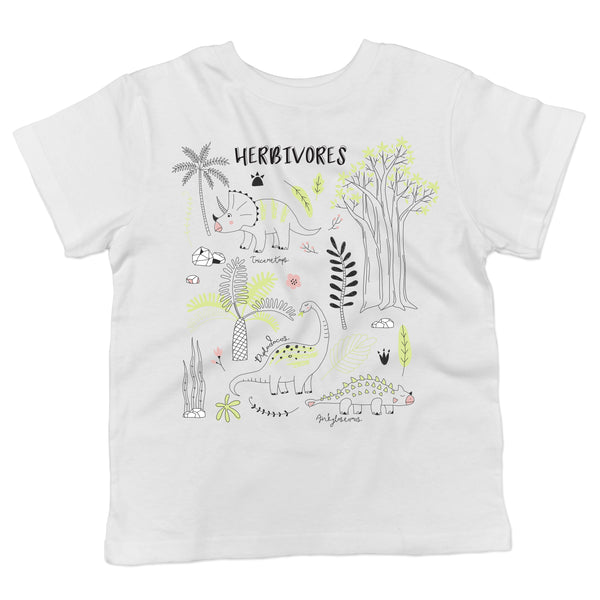 Herbivore Dinosaur Vegan Animal Lovers Toddlers Organic Cotton Shirt