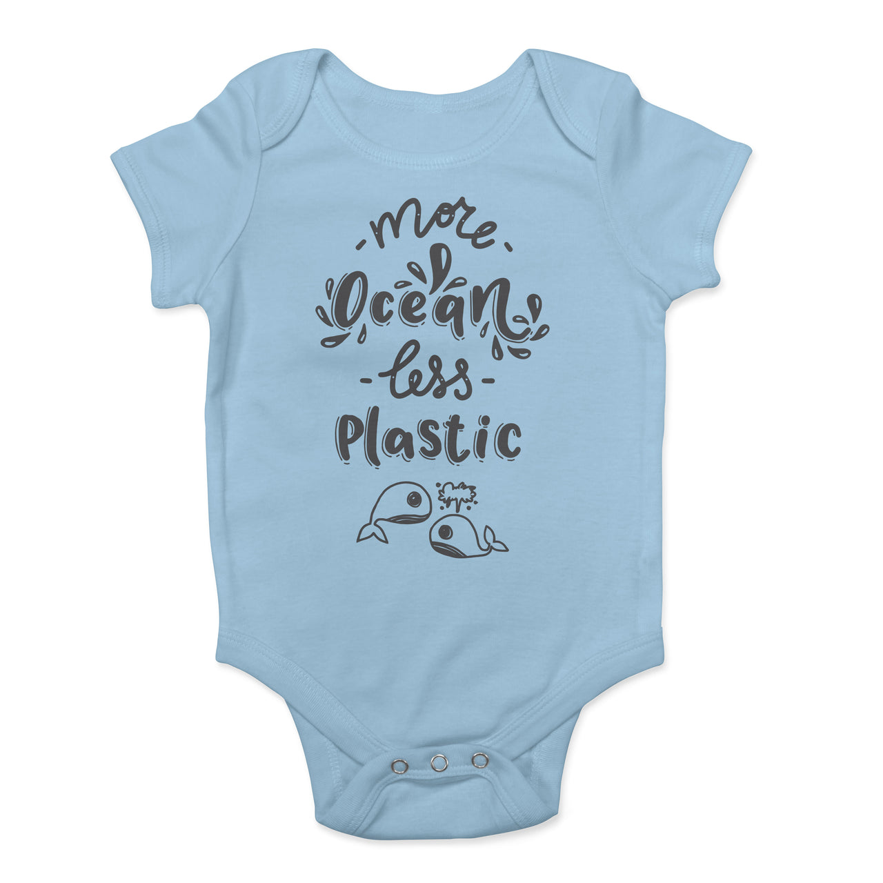 More Ocean Less Plastic Environment Save Our Seas Skip Straws Organic Cotton Recycled Onesie Babies Baby