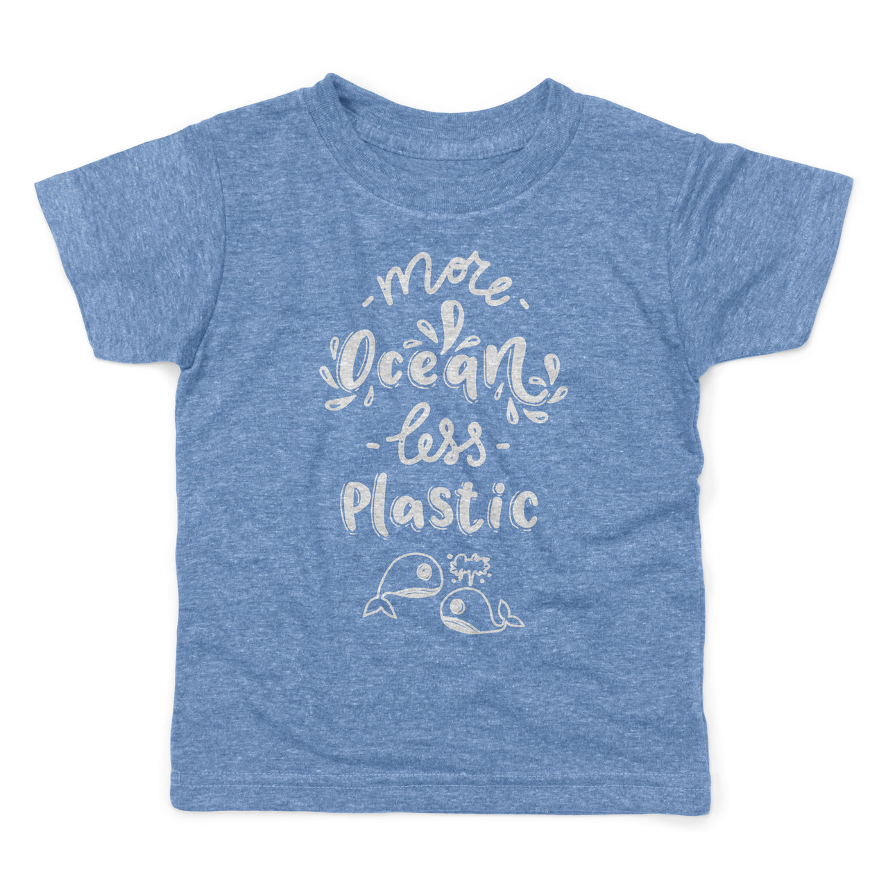 More Ocean Less Plastic Environment Save Our Seas Skip Straws Organic Cotton Recycled Shirt Toddlers