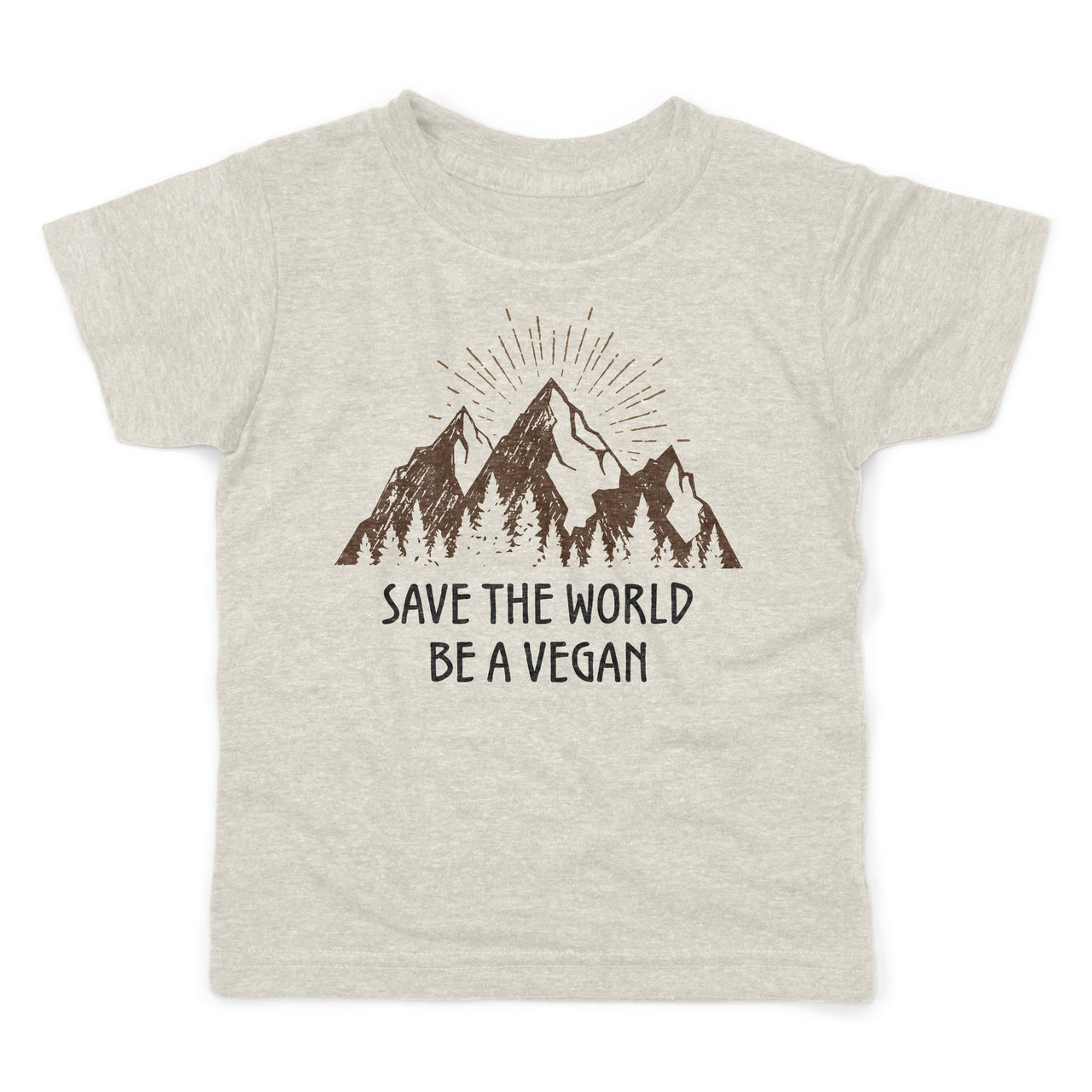 Save the world be a vegan organic cotton kids shirt