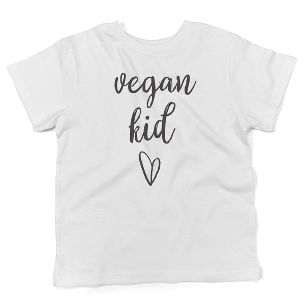 Vegan kid cute organic cotton shirt toddlers in white