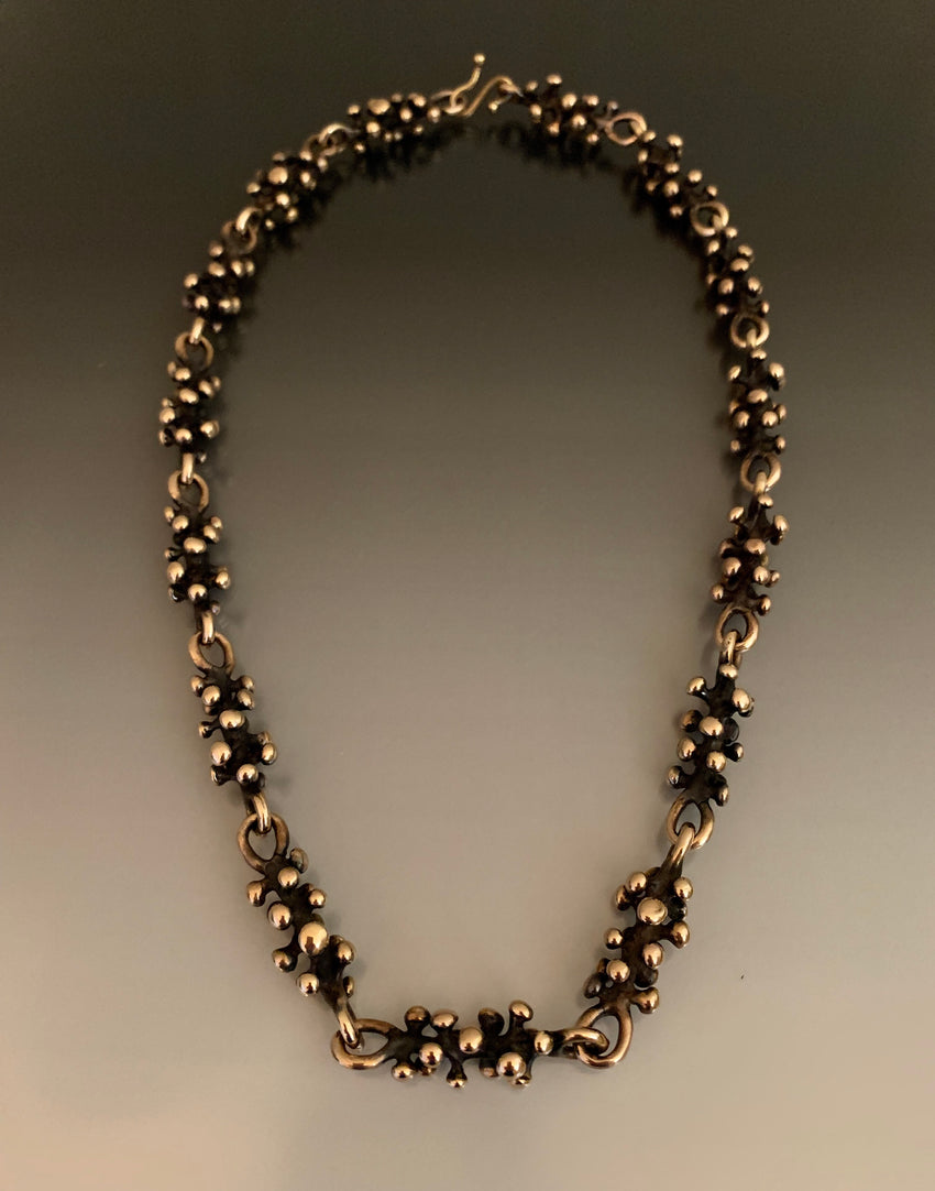 Necklace Bronze Grapevine Links