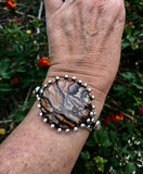 Bracelet Sterling Silver with Blue Biggs Jasper