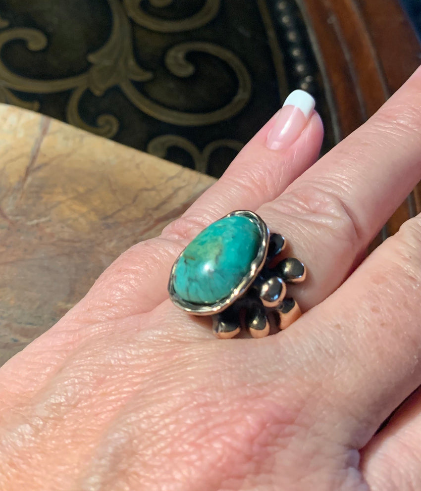 Ring Bubble Bronze Chrysacolla