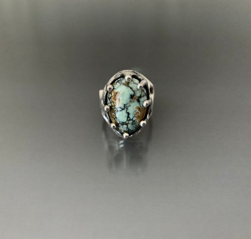 Ring Sterling Silver with Seven Dwarfs Turquoise