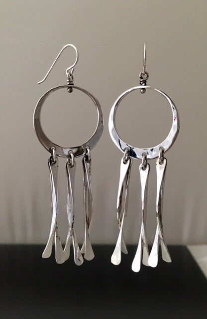 "Earrings ""Dream Catcher"" Sterling silver - JACK BOYD ART STUDIO and RON BOYD DESIGNS"