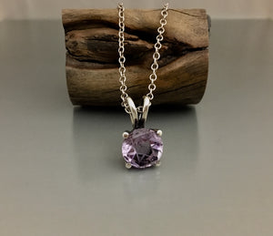 Sterling Silver Amethyst Star of David Necklace