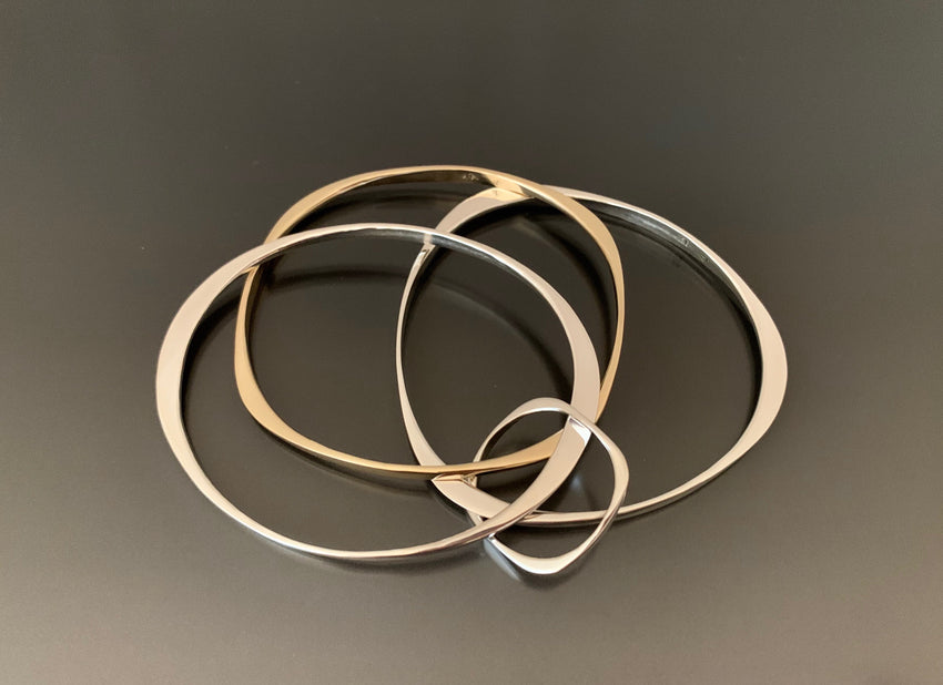 Bracelets Trio 14k gold and Sterling Silver
