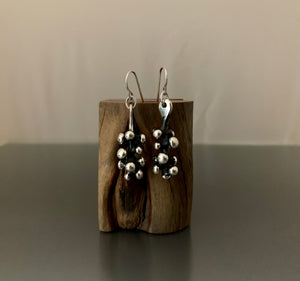 Earrings Sterling Silver Mini Grapevine