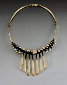 Necklace Bronze Bubbles with Fan