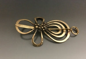 Vintage Bronze Hair Barrette