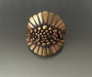 Vintage Cuff Bronze Bracelet - JACK BOYD ART STUDIO and RON BOYD DESIGNS