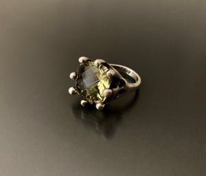 Sterling Silver Lemon Quartz Ring