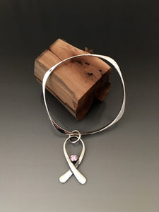 Bracelet Breast Cancer Awareness Sterling Silver - JACK BOYD ART STUDIO and RON BOYD DESIGNS